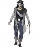 Disfarce fantasma pirata homem Halloween