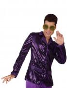Casaco Disco lilás brilhante para homem