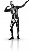 Macacão justo esqueleto fosforescente