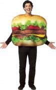 Disfarce de hamburger adulto
