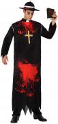 Disfarce religioso zombie homem Halloween