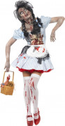 Disfarce zombie capuchinho mulher Halloween