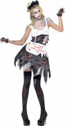 Disfarce zombi empregada sexy mulher Halloween