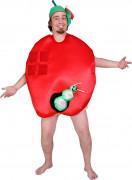 Disfarce humorístico maçã adulto