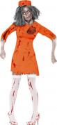 Disfarce prisioneira zombie mulher Halloween