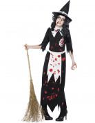Disfarce zombie bruxa mulher Halloween