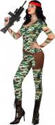 Disfarce militar sexy mulher