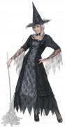 Disfarce bruxa teia de aranha mulher Halloween