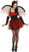Disfarce diabo vermelho sexy mulher Halloween