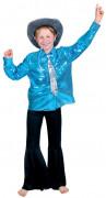Camisa disco azul menino