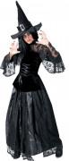 Disfarce de bruxa preta mulher Halloween