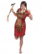 Fato de índia vermelha mulher