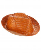 Chapéu Panamá cor de laranja adulto
