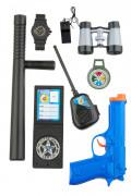 Kit Polícia para criança de plástico