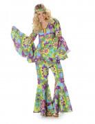 Disfarce hippie flores para mulher