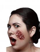 Ferida falsa invasão de larvas adulto Halloween