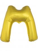 Balão alumínio dourado gigante letra M 1m