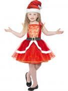 Disfarce vestido vermelho luminoso menina