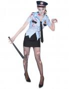 Disfarce policia zombie mulher