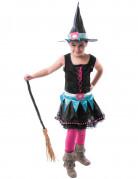 Disfarce bruxa colorida menina Halloween