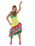 Disfarce dançarina de rumba amarelo mulher