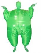 Disfarce insuflável e luminoso verde adulto Morphsuits™