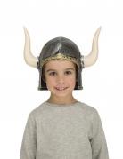 Capacete viking com chifres criança