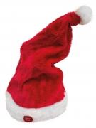 Gorro vermelho musical e animado Natal