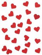Confetis de papel corações vermelhos 20 gramas