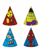 6 Chapéus de festa de cartão Avengers™