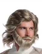 Peruca e barba Luke Skywalker The Last Jedi™ adulto