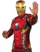 T-shirt e máscara Iron Man™ Captain America Civil War™ adulto