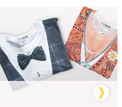 T-shirt imprimidos
