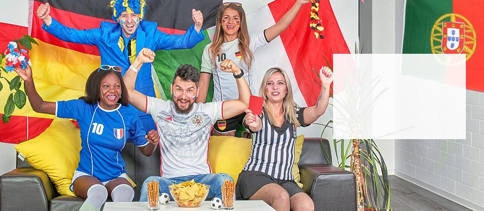 Acessórios et decoração nacionalidades para Euro 2021